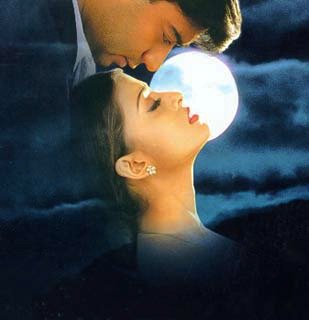 Aish and the moon